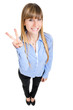Funny woman showing ok sign