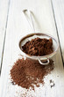 Cocoa powder dusted and sieve