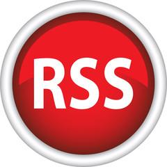 Круглый векторный знак с надписью RSS