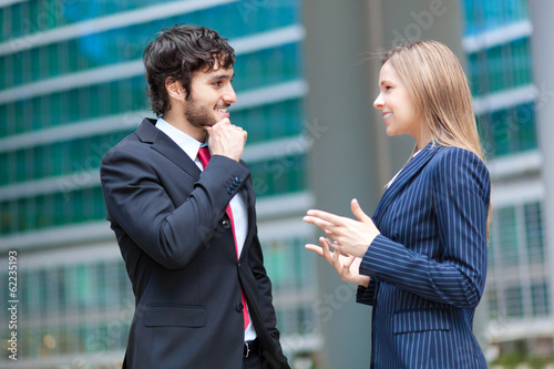 Business partners discussing