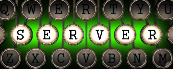 Server on Old Typewriter's Keys.