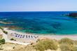 "Beachscape of Triopetra ""three rocks"" beach, island of Crete"