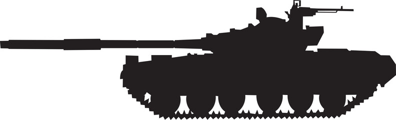 Silhouette of the Russian Tank