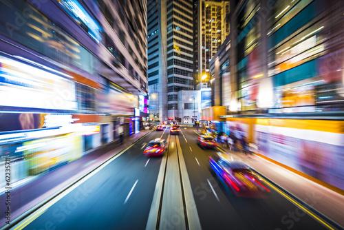 Deurstickers Hong-Kong Hong Kong Motion Blur