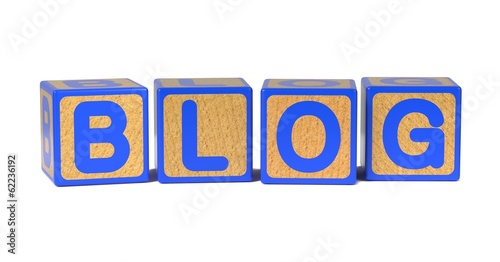 Blog - Colored Childrens Alphabet Blocks.