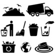 Garbage, trash and waste icons - 62236729