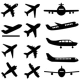 Planes in black poster