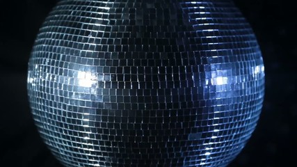 Disco mirror ball rotating