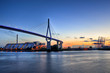Leinwanddruck Bild - Köhlbrandbrücke in Hamburg