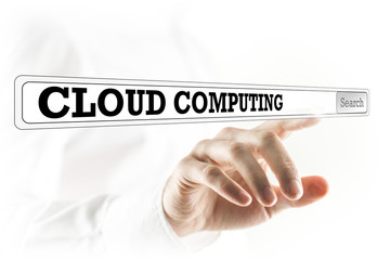 Cloud computing written in a navigation bar