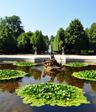 Fountain in the park of Schonbrunn, Vienna, Austria, Europe
