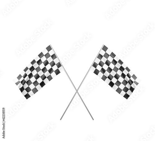Two Checker Flags Crossed