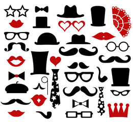 Hipster design elements, vector