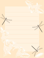 Dragonfly rose notes