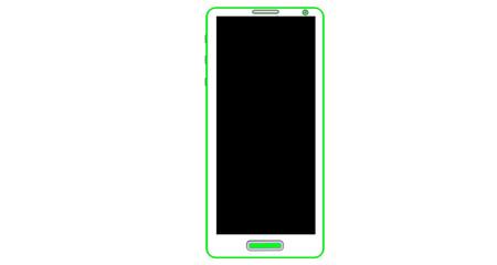 Téléphone dernier cri vert
