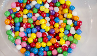 Candy colorful bright gum ball