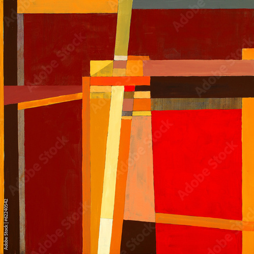 Leinwandbild Motiv a modernist abstract painting