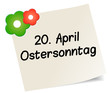 20. April Ostersonntag