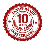 10 years anniversary stamp