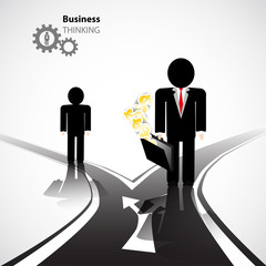 business crossroad