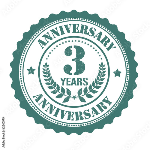 3 years anniversary stamp