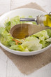 olive oil in a bowl with salad