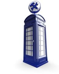 Box telefonico con simbolo di manutenzione