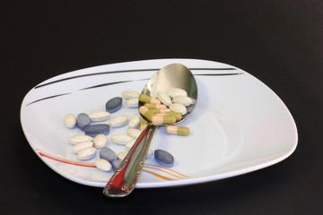piatto di farmaci