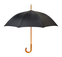 Open Black Umbrella isolated