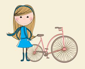 bike girl design