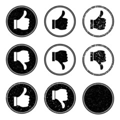 Thumb Up and Down Stamp Icons