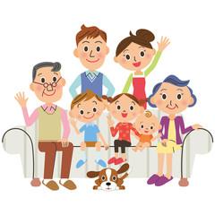 家族 リビング 三世代