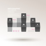 abstract 3d origami infographics