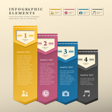 abstract flat style banner infographics
