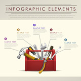 abstract toolbox theme infographics
