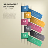 abstract origami tag infographics