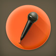 Microphone long shadow vector icon