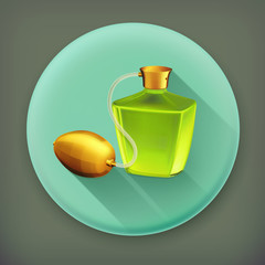 Perfume long shadow vector icon