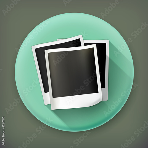 Photos long shadow vector icon