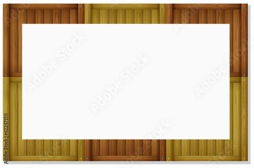 An empty board frame