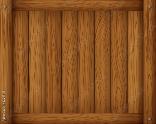 A wooden empty board