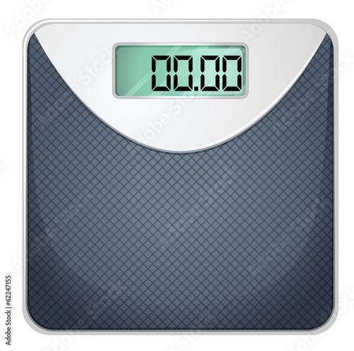 A bathroom scale