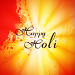 illustration of colorful Happy Holi festival background vector
