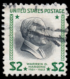 UNITED STATES OF AMERICA - CIRCA 1938: A stamp printed in USA sh
