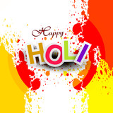 Beautiful vector background colorful grunge of holi festival des