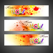 Beautiful banner and header set grunge with colorful colours spl