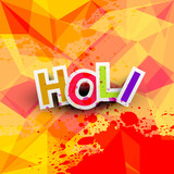 Beautiful background of indian festival colorful holi texture ve
