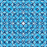 Seamless pattern texture Mosaic geometry blue colorful vector