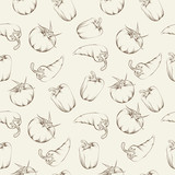 Vegetable pattern - beige.
