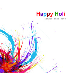 Beautiful Illustration of holi colorful grunge background vector